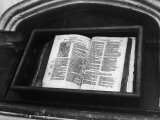 Archbishop Thomas Cranmer's Bible in the North Choir Aisle Canterbury Cathedral Kent England
