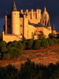 Exterior of Alcazar on Stormy Day  Segovia  Spain