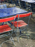 Cafe Table and Chairs on Oberer Rhineweg  Basel  Switzerland