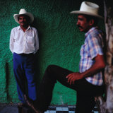 Men Standing in Street  Tequila  Mexico