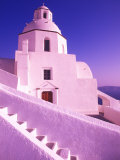 White Dome of Greek Church  Santorini  Greece