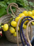 Handbag with Lemons  Positano  Amalfi Coast  Campania  Italy
