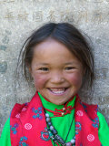 Young Tibetan Girl  Sakya Monastery  Tibet  China
