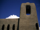 Close View of an Adobe Structure in Downtown Santa Fe  New Mexico  United States