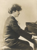Ignacy Jan Paderewski Polish Pianist Composer and Statesman Playing a Grand Piano