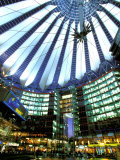 Interior of the Sony Center  Potsdamer Platz  Berlin  Germany