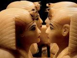 Alabaster Canopic Jars of Tutankhamun  King Tut  Egyptian Museum  New Kingdom  Cairo  Egypt