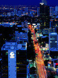 Overhead of Banking Area  Dusk  Panama City  Panama