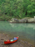 Canoe by the Big Piney River  Arkansas