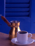 Greek Coffee and Copper Pot  Crete  Greece