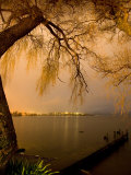 City Lights across Lake Rotorua  Rotorua  Bay of Plenty  North Island  New Zealand
