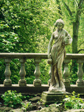 Statue of Woman with Pitchers Ballustrade  Woodland Melford House  Dorset