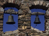 Close View of Two Bells in a Tower Near La Seu D'Urgell  Pyrenees Mountains  Spain  Europe