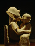 Akhenaten with child  Egyptian Museum  Amarna  Cairo  Egypt