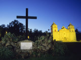 The Santa Barbara Mission at Sunset