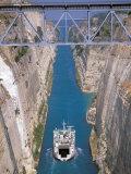 View of Corinth Canal  Corinthia  Corinth  Peloponnese  Greece