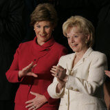 First Lady Laura Bush  Left  and Lynne Cheney  Wife of Vice President Dick Cheney