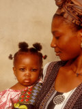 Muslim Woman with Daughter  Techiman  Brong-Ahafo Region  Dagomabaline Area  Ghana