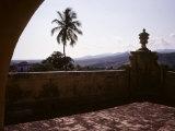 The Sierra Del Escambray Mountains Loom in the Distance  Trinidad  Cuba