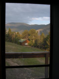 Looking Through a Doorway to the Mountains of Montana  Red Lodge  Montana  United States