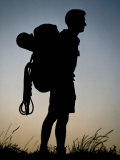 Male Hiker  Silhouetted  Melbourne  Australia