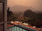 A Beautiful View from a Hotel Balcony During an Afternoon Rainshow  Vinales  Cuba