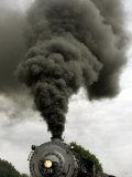 Smoke Billows from the Smoke Stack of Engine No 734