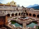 Courtyard with Fountain  La Merced Church  Antigua  Guatemala