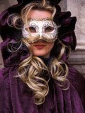 Masked Woman  Venice Carnival  Italy