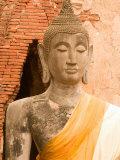 Buddha Image at Ayuthaya  Yai Chai Mongkhon  Siam  Thailand