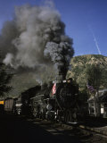A Steam Engine Leaves the Station in Durango  Colorado  Durango  Colorado