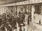 The Windows of Swan and Edgar Ltd Smashed by Suffragettes