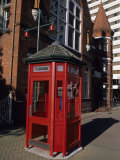 A Red Phone Booth and Victorian Architecture