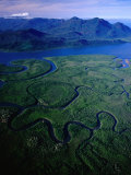 Aerial of Hinchinbrook Channel & Island  Hinchinbrook Island National Park  Australia