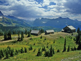 Granite Park Chalet  Glacier National Park  Montana  USA