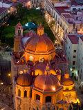 Church of San Diego and Jardin de la Union at Night  Guanajuato  Mexico