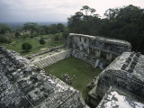 Overlooking Mayan Ruins  Mexico