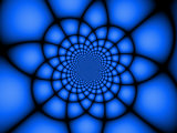 Abstract Blue Fractal Design