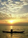 Sea Kayaker at Sunset  Greece