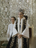 Portrait of Queen Farah Pahlavi Dressed in a Ceremonial Attire  Gulistan Palace  Tehran  Iran