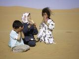 Children in Desert  Morocco