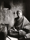 The Monk Tsampa Tendar in Cell at Ritra Near Gyantse  Tibet