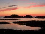 Sunset from West Coast of Isle of Iona  Scotland