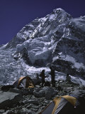 View of Mount Nuptse from Everest Base Camp  Nepal