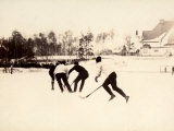 Stockhom Winter Games Ice Hockey Match of the Swedish and Finnish Teams