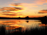 Sunset Light on a Pond at Chico Basin Ranch  Colorado