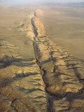 The San Andreas Fault Slashes the Desolate Carrizo Plain  Carrizo Plain  California