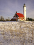 Tawas Point Lighthouse in Winter  Tawas Point State Park  MI