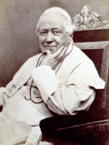 Portrait of Pope Pius Ix  Seated He is Wearing a White Cassock