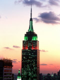 The Empire State Building Illuminated at Night